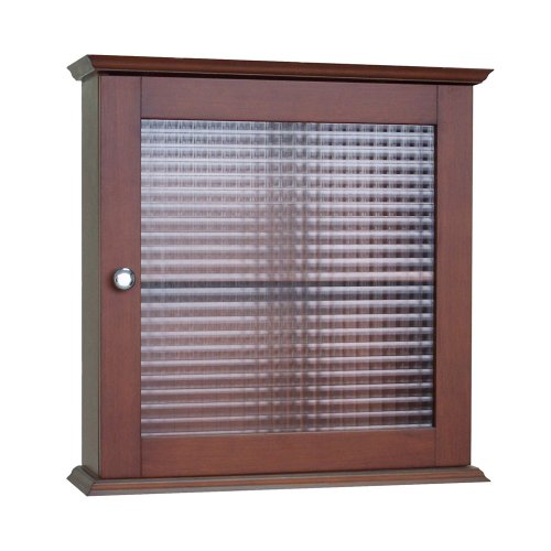 Best Review Of Elegant Home Fashions Chesterfield Collection Medicine Cabinet with Waffle Pattern Gl...