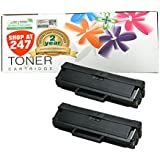 Shop At 247 ® Compatible Toner Cartridge Replacement for Samsung MLT-D104S ML-1655 ML-1865W (Black, 2-Pack)