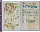 Victorian Card, 1890's, Hoyts German Cologne, Man & Woman Walking