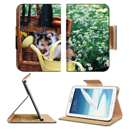 Kitten Watering Can Spotted Sitting Toddler Samsung Galaxy Note 8 Gt-N5100 Gt-N5110 Gt-N5120 Flip Case Stand Magnetic Cover Open Ports Customized Made To Order Support Ready Premium Deluxe Pu Leather 8 7/16 Inch (215Mm) X 5 11/16 Inch (145Mm) X 11/16 Inch front-654564