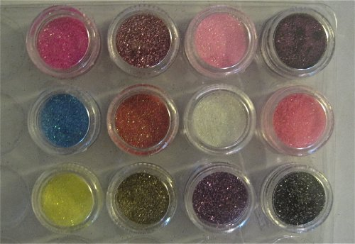 Z'luxe 12 Color Glitter Sparkle Powder Nail Art Makeup Body Painting