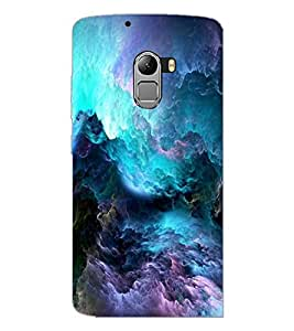 PrintDhaba Clouds D-2199 Back Case Cover for LENOVO VIBE X3 c78 (Multi-Coloured)