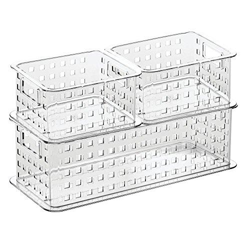 InterDesign Stack & Slide Storage Baskets (Set of 3), Clear (Shower Modular compare prices)