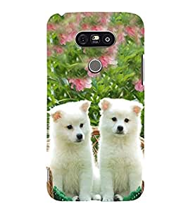 Vizagbeats Cute Dogs Back Case Cover for LG G5