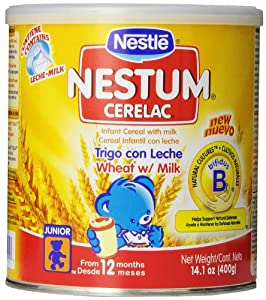 Nestle Cerealac Wheat with Milk Cereal,  14.10 Ounce