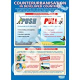 Counterurbanisation Geography Educational Wall ChartPoster in laminated paper A1 850mm x 594mm