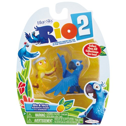 Rio 2 Movie, Blu and Nico Mini Figure 2-Pack - 1