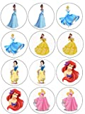 Single Source Party Supply - Disney Princess Cupcakes Edible Icing Image #2
