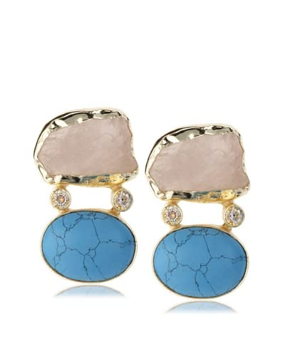 Saachi Double Stone Earring