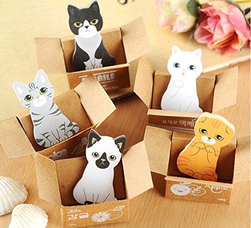 yosoo-cartoon-cats-sticky-notes-pack-of-5