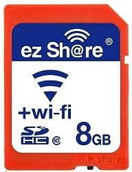 Ez Share 8GB WI-FI SDHC Memory Card Class 10
