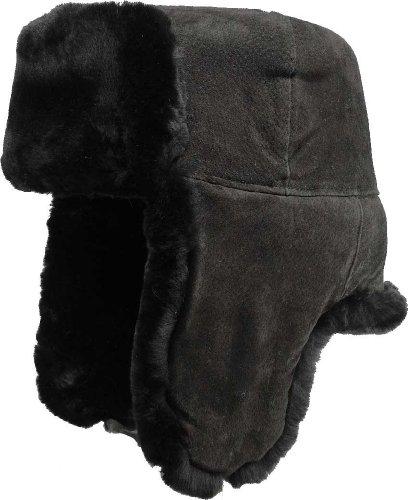 Echte Lammfellmütze in Braun , Größen:57