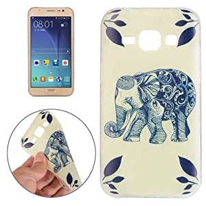 Crazy4Gadget For Samsung Galaxy J5 Elephant Pattern TPU Protective Case