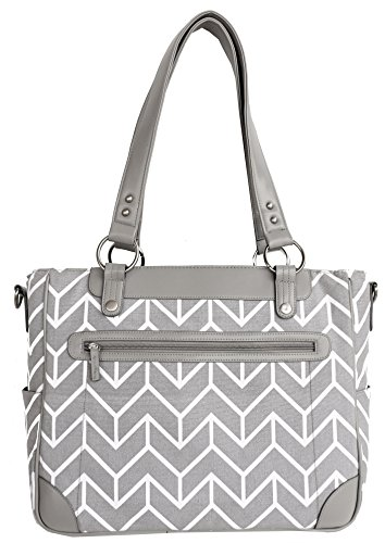 kailo-chic-camera-and-laptop-tote-in-gray-arrows-new-less-than-perfect