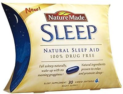 Nature Made Liquid Softgel Sleep Natural Sleep Aid