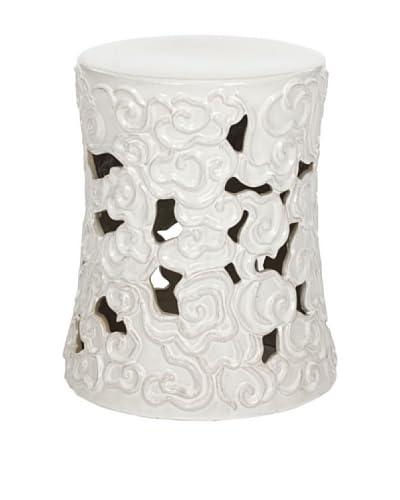 Safavieh Glazed Ceramic Garden Stool, White