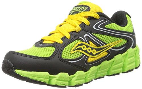 Saucony Boys Kotaro Running Shoe ,Slime/Black/Yellow,7 W US