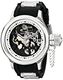Invicta 17263 Men's Russian Diver Skeleton Black Dial Steel & Rubber Strap Watch