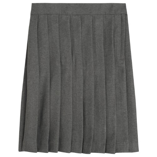 French Toast School Uniforms Pleated Skirt Girls Heather Grey 18 front-195711