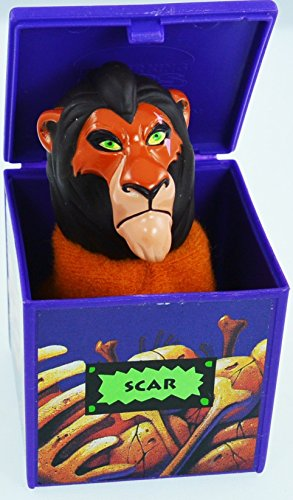 "BURGER KING - Disney's - Lion King ""SCAR"" Finger Puppet - 1994 - 1"