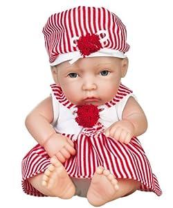 "LITTLE PATSY 12"" Full Body Vinyl Baby Doll By Golden Keepsakes"