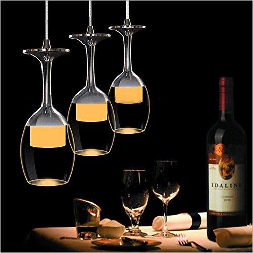 KJLARS-3W-X-3-Weinglas-LED-Pendelleuchte-Hngelampe-fr-Wohnzimmer-Bar-Salon-Esszimmer-warmwei-Leuchtmittel-Hngeleuchte