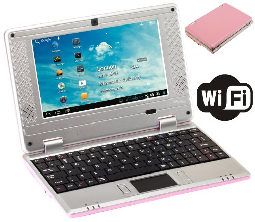 Wolvol Notebook Computer Netbook Wifi Netbook Laptop Pink Epc 7 Inch Android 2.2 Netbook Build-In Camera (Includes: Velvet Pouch Case, Charger, Mini Optical Mouse)