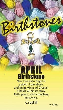 April Birthstone Angel ..... Thoughtful Angel Pin