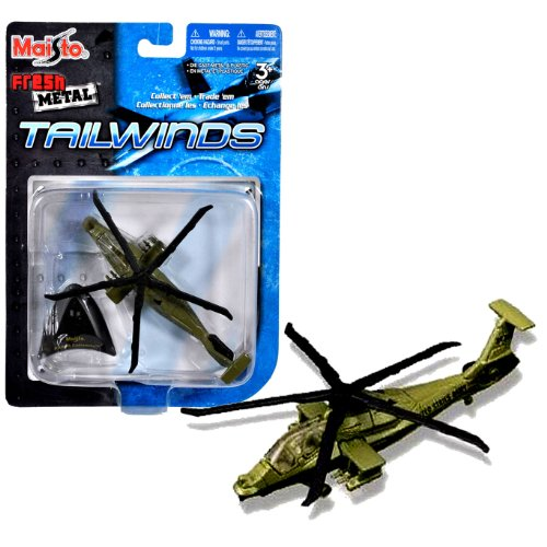 Maisto Fresh Metal Tailwinds 1:118 Scale Die Cast United States Military Aircraft - U.S. Army Helicopter for Armed Reconnaissance Role and Incorporating Stealth Technologies : RAH-66 Comanche with Display Stand (Dimension: 4-1/2