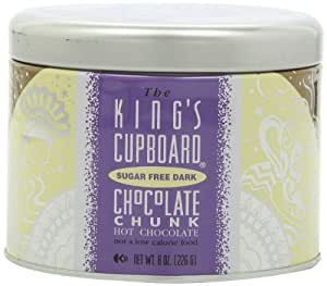 The King's Cupboard Sugar Free Dark Hot Chocolate, 8-Ounce Cans (Pack of 3)