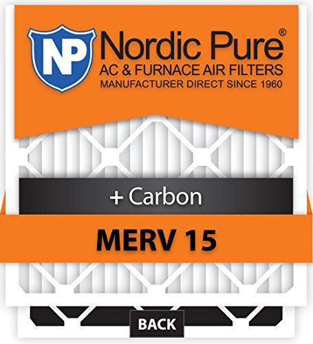 20x25x5HM15+C-2 Honeywell Replacement MERV 15 plus Carbon AC Furnace Air Filter, QTY 2