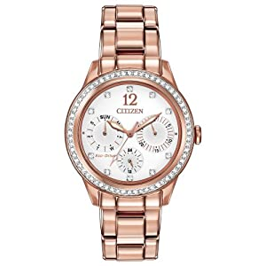 Citizen Women's FD2013-50A Silhouette Crystal Analog Display Japanese Quartz Gold Watch