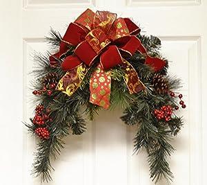 Designer Holiday Door Wreath or Mailbox swag CR4839