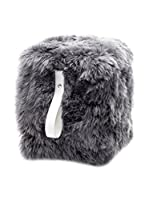 Royal Dream Puff Sheepskin Gris/Blanco