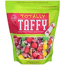Sweet\'s Totally Taffy Sour Fruit Flavor Assortment, Party Size-24 Oz. Bag