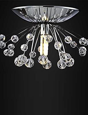 qiuxi High-end fashion Interior Ceiling lamp hot sale design modern crystal chandelier light Dia15*H7cm mini lustre cristal led lamp Flush Mount , 110-120v