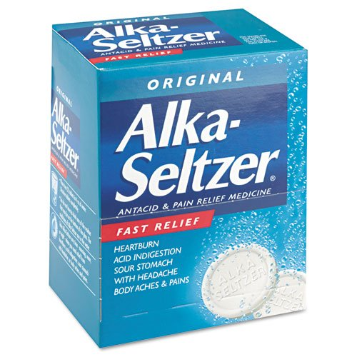 Alka-Seltzer Pain Reliever Refill, 50 Two-Packs/Box