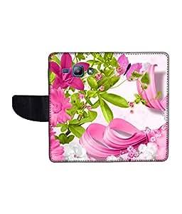 KolorEdge Printed Flip Cover For Samsung Galaxy J1 Multicolor - (1476-45KeMLogo11045SamJ1)