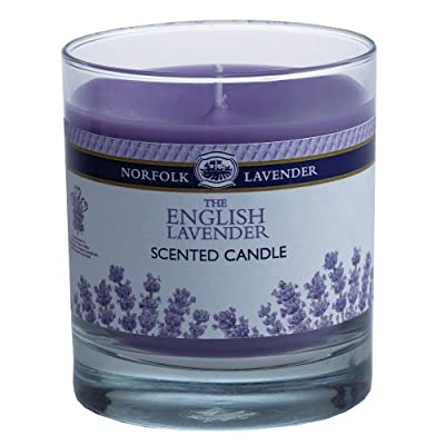 8oz Scented Candle In Glass Jar English Norfolk Lavender