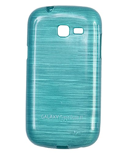 iCandy Soft TPU Shiny Back Cover For Samsung Galaxy Trend GT S7392 - Turquoise  available at amazon for Rs.99