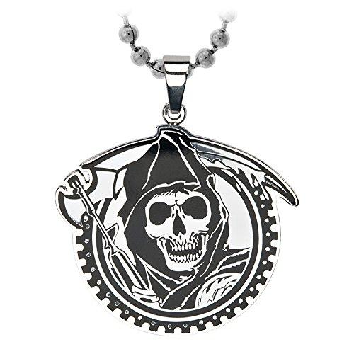 Sons Of Anarchy Stainless Steel Collana con Ciondolo Grim Reaper Gunsickle SASO