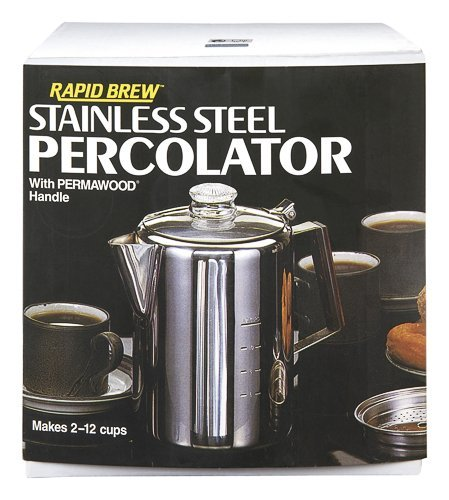 Rapid Brew Stainless Steel Stovetop Coffee Percolator, 2-12 cup (Large Percolator Coffee Pot compare prices)