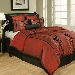 8Pcs King Laurel Jacquard Bedding Comforter Set