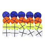 20Pcs ゴルフボールマーカー ボールマーク プラスチック製 4色円形