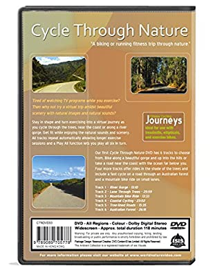 Cycle Through Nature-Virtual Cycle Experience - for indoor walking, treadmill and running workouts