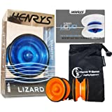 Henrys LIZARD Professional Yo-Yos, Beginners YoYo's With Yo Yo String, Book Of Tricks & Travel Bag!