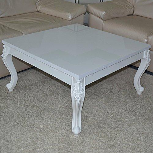 Couchtisch-80x80x44-cm-Hochglanz-wei-lackiert-Holz-Blten-Dekoraration-Wohnzimmer-Holz-Tisch-Beistelltisch-Ziertisch-Loungetisch-sofatisch-reibungs-und-kratzfest