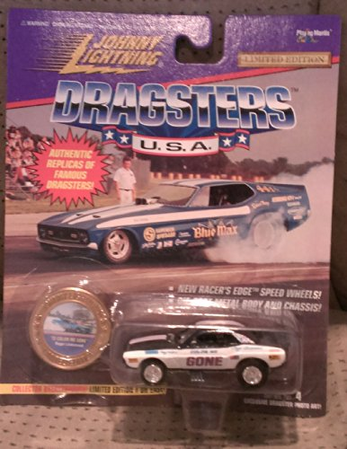 johnny lightning dragsters usa 72 black with white trim color me gone series #4 1995 - 1