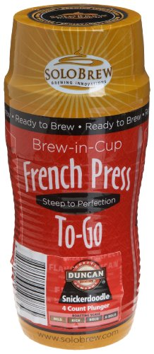 French Press To-Go Brew-in-Cup, Duncan Coffee Company Snickerdoodle, Rich, 4-Count Plungers (Pack of 6)