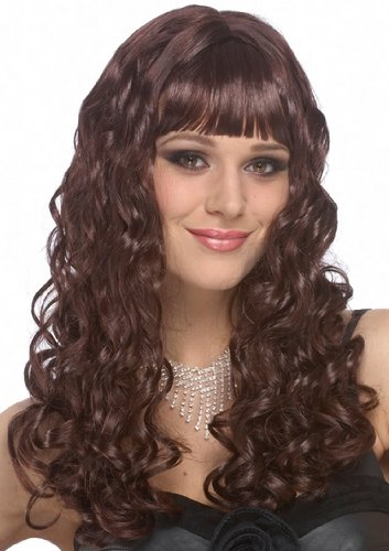 Sexy Wigs Long Brown Hair Adult Halloween Costume Wig